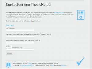 Scriptie thesishulp eigen platform