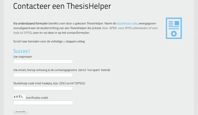 Scriptie uitbesteden-thesishulp eigen platform